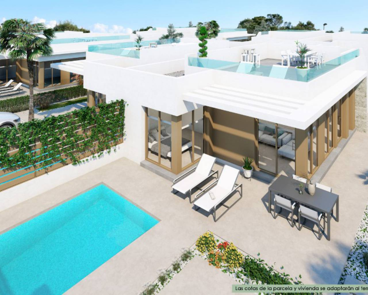 Semi Detached Villa - Nueva construcción  - Los Montesinos - Vistabella Golf